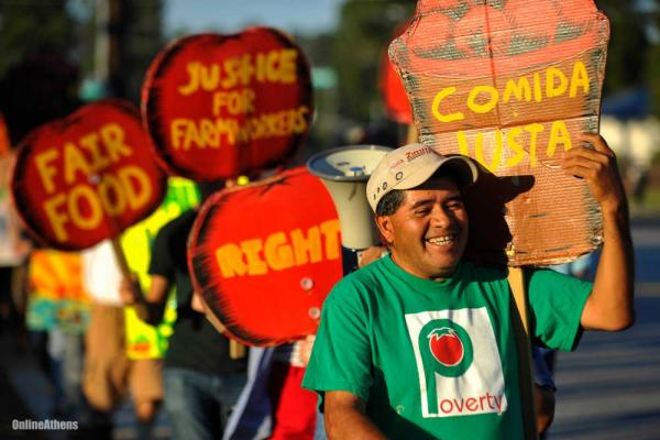 Food Justice from the Frontlines. A Conversation with the Coalition of Immokalee Workers round table discussion in autumn of 2018